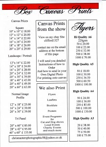 chris flyer 2015 price list